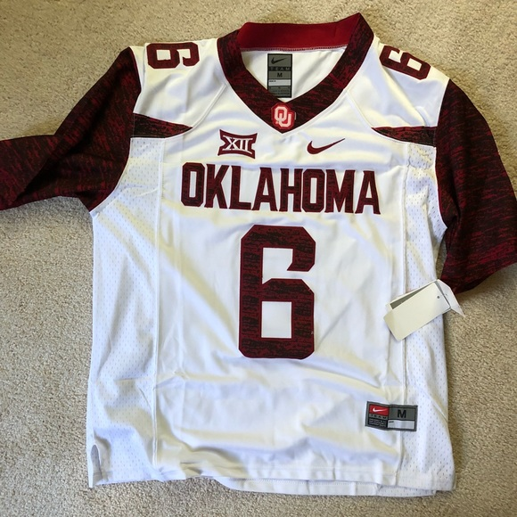lowest price 8d714 ee210 Baker Mayfield Oklahoma Nike Jersey Size M NWT